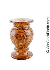 jasper stone vase isolated on a white background
