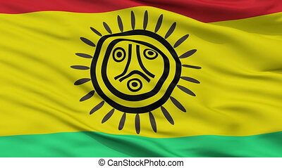 Jatibonicu Taino Tribal Nation Indian Flag Closeup Seamless...