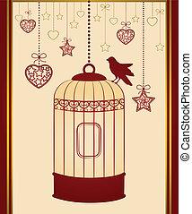jaulas de pájaros, y, aves