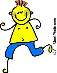 little boy with yellow jaundice - toddler art series