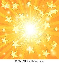 jaune, étoiles, fond