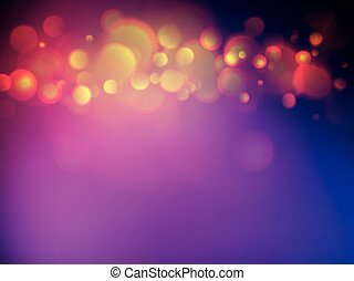 jaune, bokeh, fond, violet, doux, briller