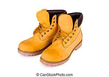jaune, bottes
