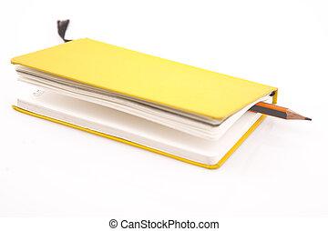 jaune, cahier