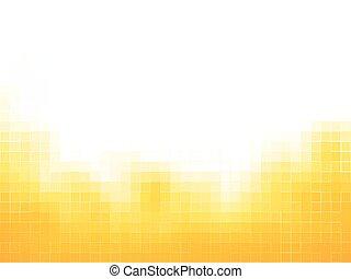 jaune, carrés, mosaïque, fond