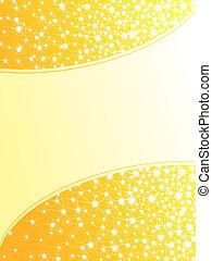 jaune, clair, fond, sparkly, vertical