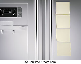 refrigerator vide rendu image door refrigerator clipart recherchez illustrations. Black Bedroom Furniture Sets. Home Design Ideas