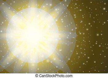 jaune, conception, lumière, fond, clair