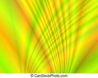 jaune, courbes