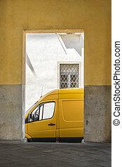 jaune, et, gris