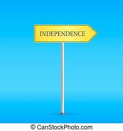 jaune, indépendance, panneaux signalisations