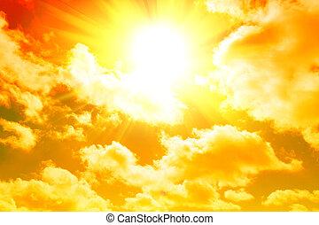 jaune, levers de soleil