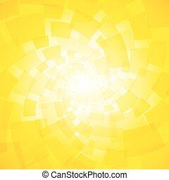jaune, moderne, tordu, fond