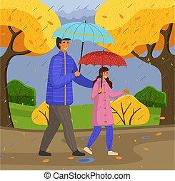 jaune, mouvement, rue, fille, octobre, père, dépenser, ...
