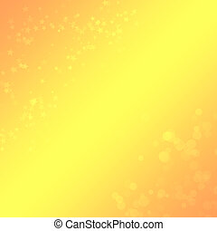 jaune-orange, fond, à, a, bokeh, et, étoiles, pour,...