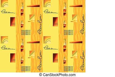 jaune-orange, seamless, fond