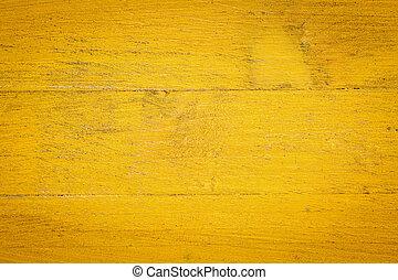 jaune, peint, bois, fond