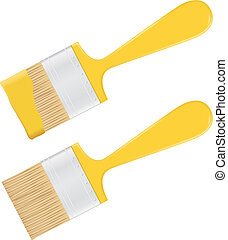 jaune, pinceau