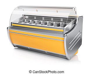 retro jaune frigidaire render isol jaune refrigerator blanc 3d retro. Black Bedroom Furniture Sets. Home Design Ideas