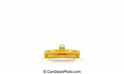 jaune, serrure, stationnement, foldable