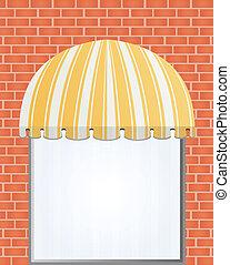 jaune, storefront, marquise