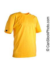 jaune, t-shirt