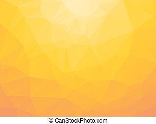 jaune, triangulaire, fond