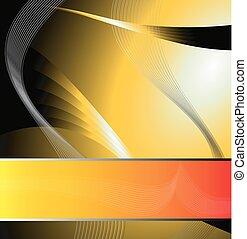 jaune, vecteur, résumé, fond