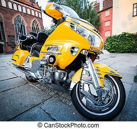 jaune, ville, vélo