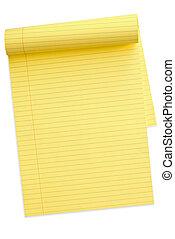 jaune, (with, bloc-notes, path)