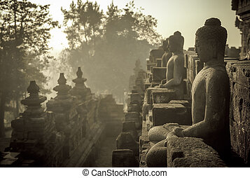 java, borobudur, indonesia, tempio, alba
