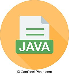 JAVA, code, web icon vector image. Can also be used for file...