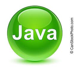 Java glassy green round button