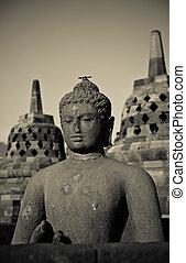 java, indonesie, borobudur, boeddha, standbeeld, tempel