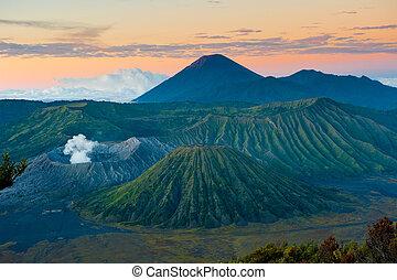 java, indonesien, vulkan, bromo, sonnenaufgang