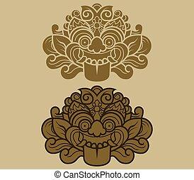 Java Kalamakara Ornament - Kalamakara is a giant face...