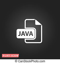 java, ontwikkeling, bestand, formaat, plat, pictogram