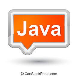 Java prime orange banner button