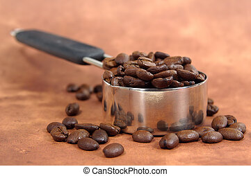 Java Serving - Photo of Coffee Beans in a MEasuring Cup