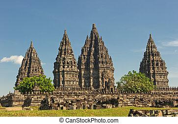 java, templo, indonesia, prambanan