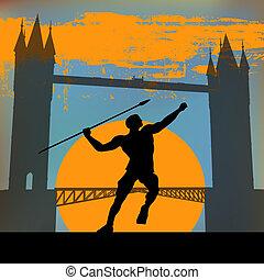 Javalin, London 2012 - London 2012, An Athlete hurling a...