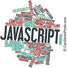 JavaScript - Abstract word cloud for JavaScript with related...