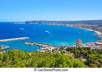 javea, 航空写真, スペイン, 地中海, xabia, 村