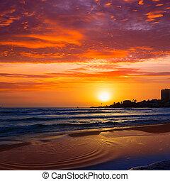 Javea El Arenal beach sunrise Mediterranean Spain - Javea...