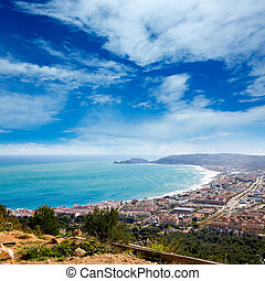 Javea in Alicante aerial view Valencian Community spain -...