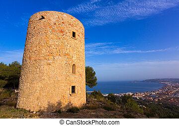 Javea Xabia Molins de la Plana old windmills Alicante -...