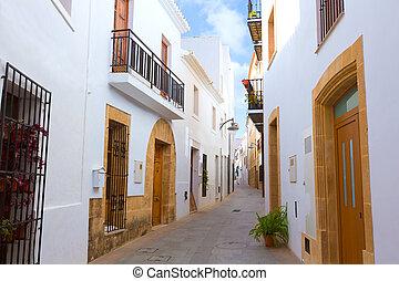 Javea Xabia old town streets in Alicante Spain - Javea Xabia...