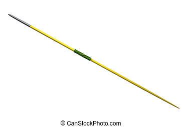Javelin Isolated - A regular athletics javelin on an ...