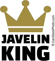 Javelin king with crown