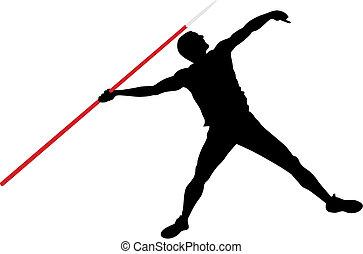 Javelin throw - Abstract vector illustration of javelin ...